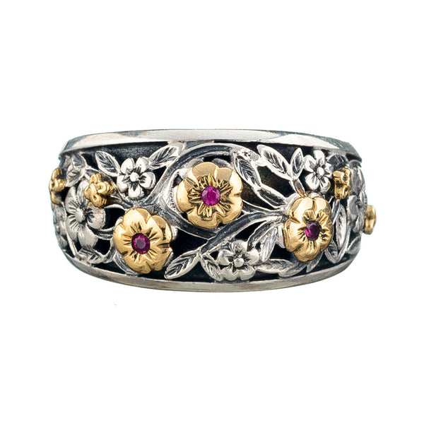 Triple Rose Garden Shadows Ring