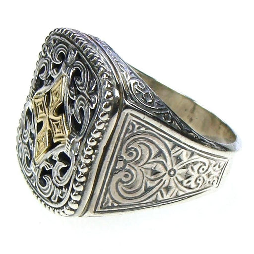 Gold Star Filigree Etched Ring