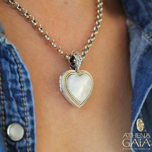 Gold Border Heart Locket