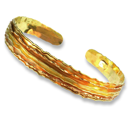 18k Gold Open Bracelet - The Melting Walls™ Collection by Damaskos
