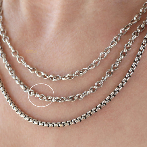 Heavy Sterling Silver Double Loop Chain