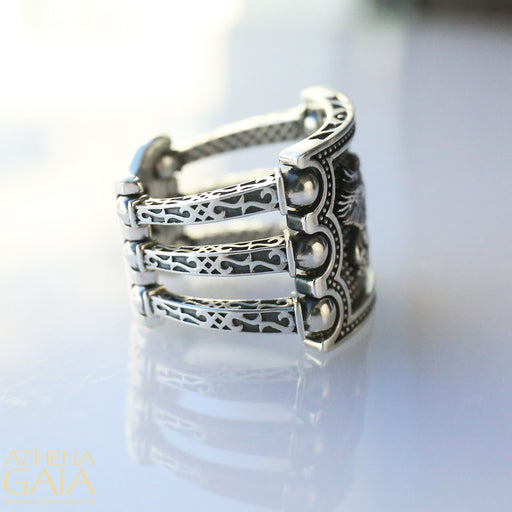 Hinged Triple Bar Ring