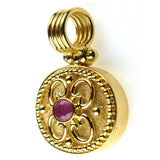 18k Gold Ruby Synergy Pendant