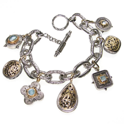 Oval Link Loaded Charm Bracelet