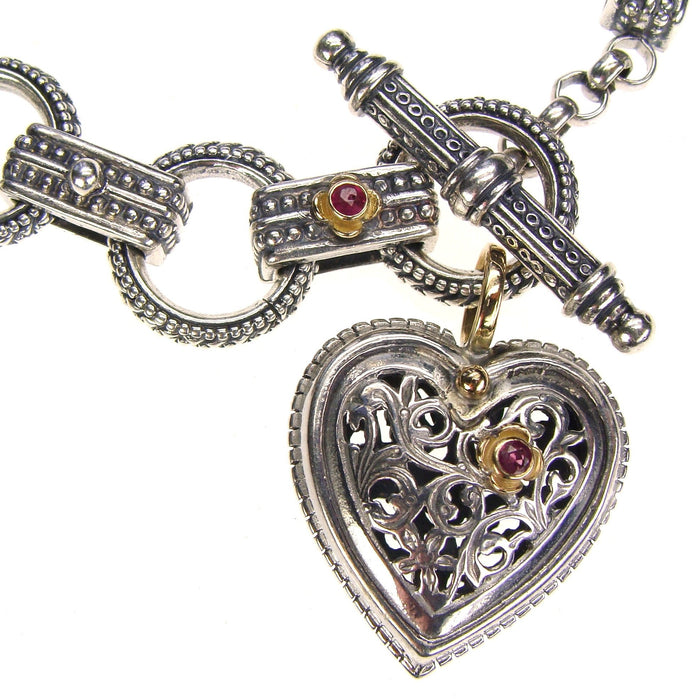 Ruby Road Heart Charm Bracelet