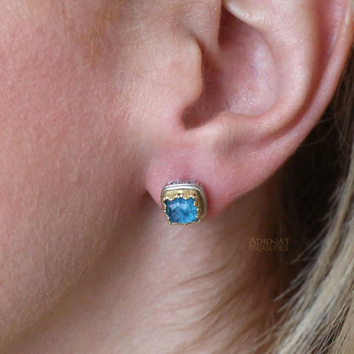 Pop Rocks Small Square Post Earrings