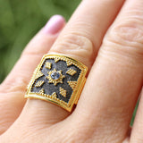Thiva Shield Ring