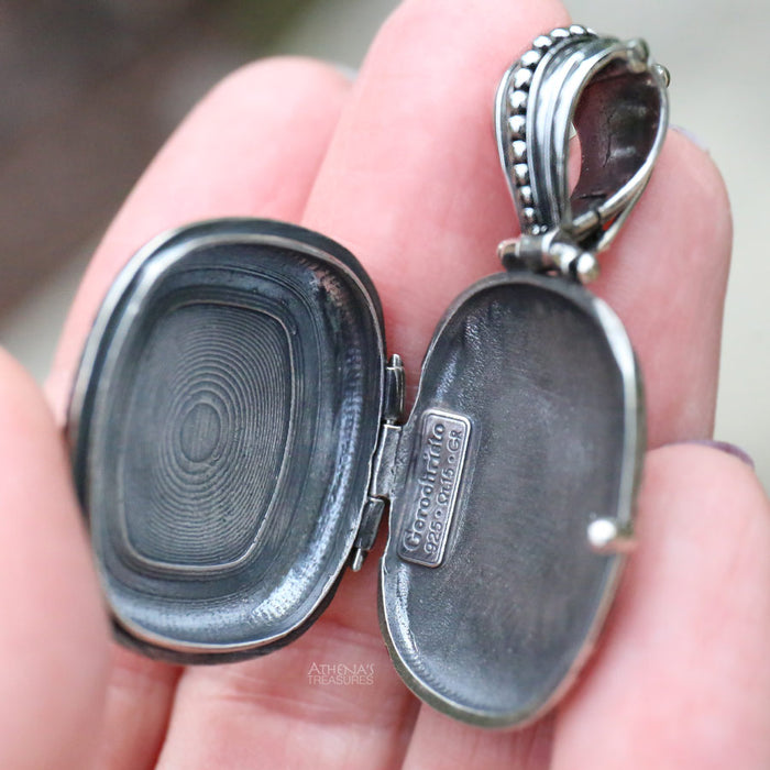 Silver Barrel Locket