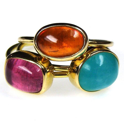 Stackable Small Stone Rings