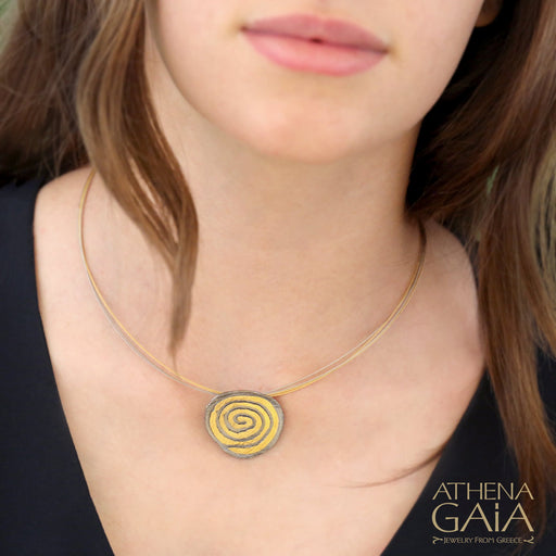 Summer Spiral Pendant and Necklace