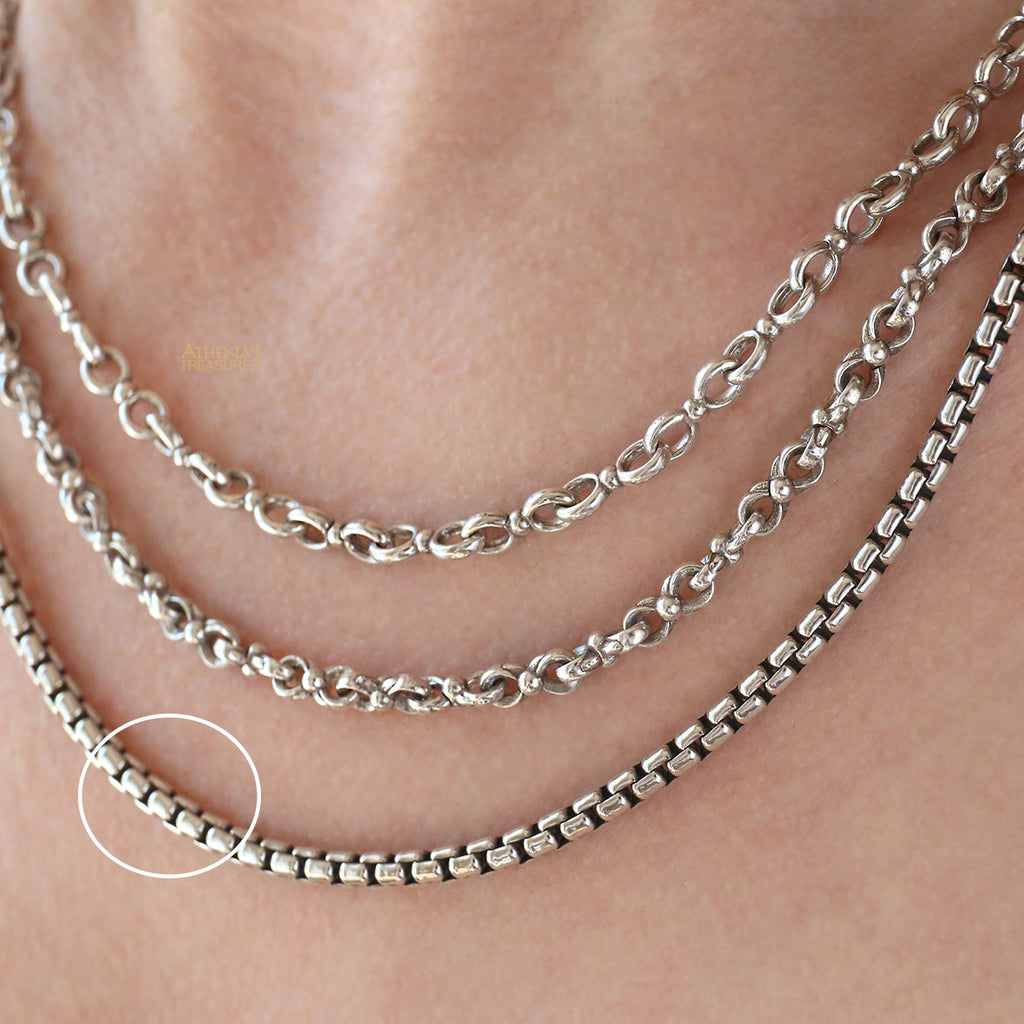 Thick Sterling Silver Box Chain