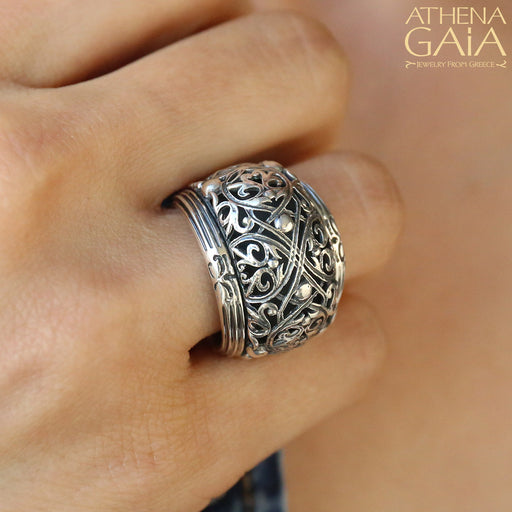 Super Bulged Filigree Ring