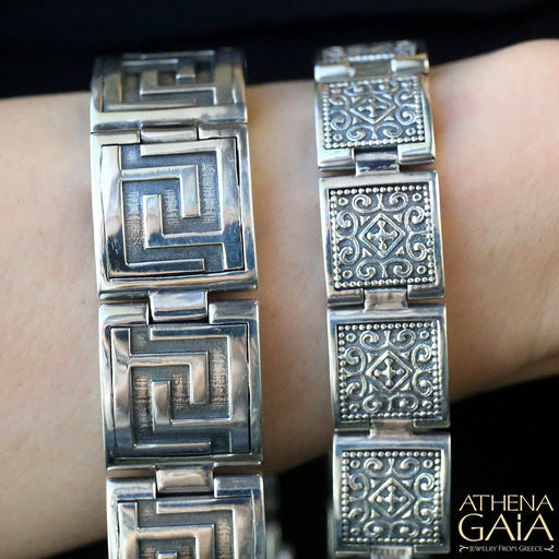 Large Reversible Greek Key Bracelet