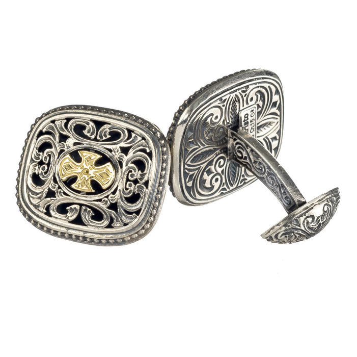 Garden Shadows Maltese Gold Cross Cufflinks