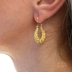 Hoop Drop Martile Earrings