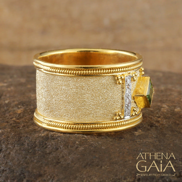 Tetra Stone Band Ring
