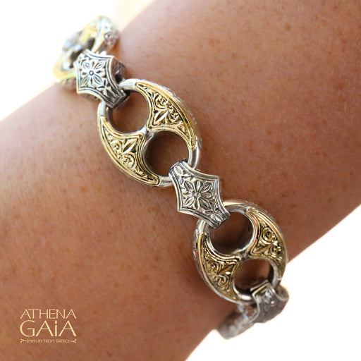 Two-Toned Anchor Link Bracelet