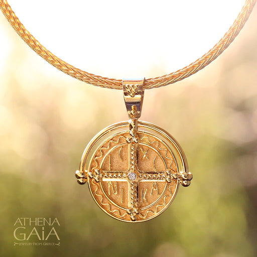 ICXC NIKA Arc Cross Pendant