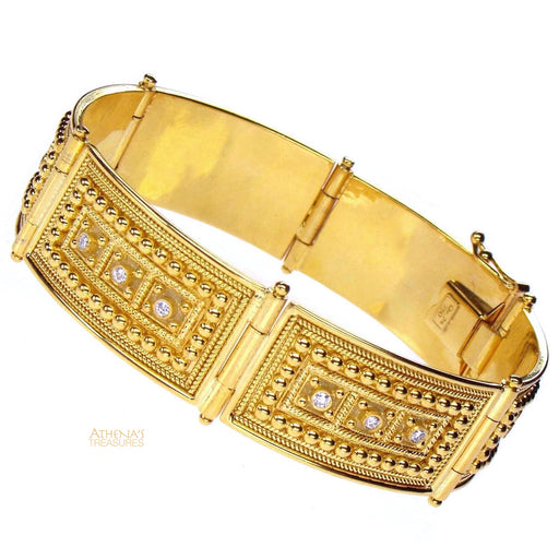 Diamond Block Hinged Bracelet