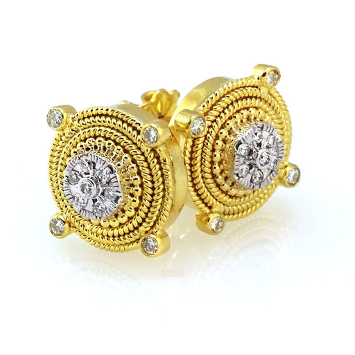 Diamond Navigation Post Earrings