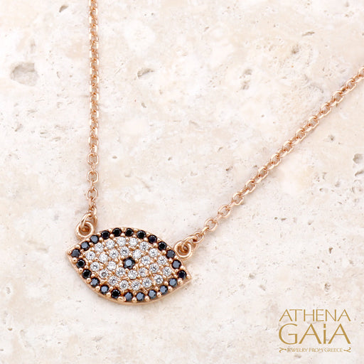 Full Pave Mati Evil Eye Necklace