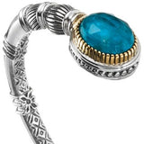Pop Rocks Oval Open Bangle Bracelet