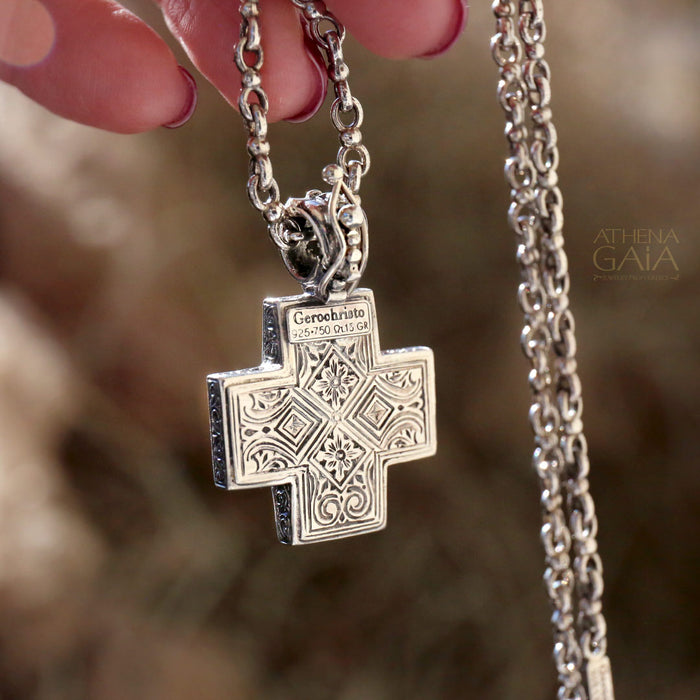 Silver Filigree Greek Cross