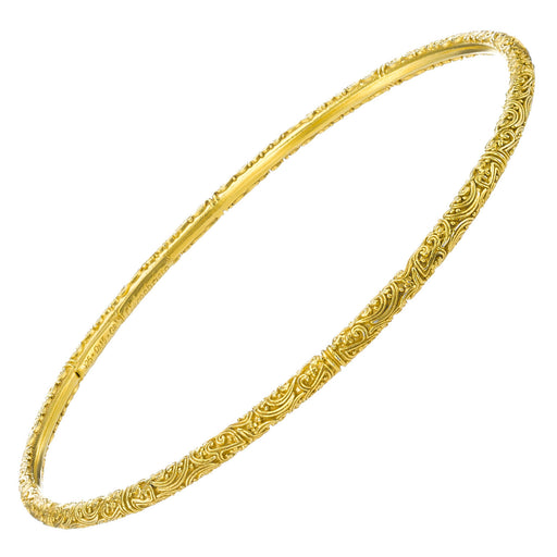 Meadow Breeze Gold Plated Silver Thin Bangle Bracelet