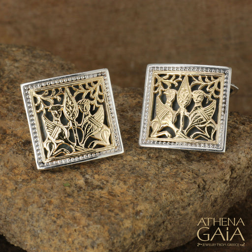 Monesteraki Church Gryphon Cufflinks