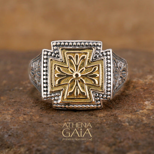 Gerochristo Eastern Cross Ring
