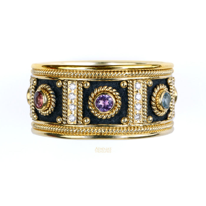 Diamond Columns Ring