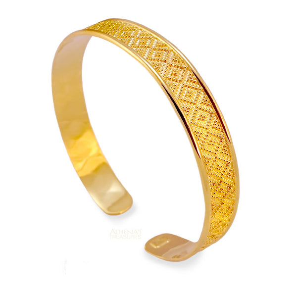 Damaskos Digital Spiral Thin Bracelet