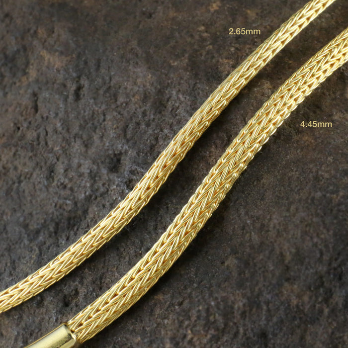 Hand Woven 2.65mm 18k Gold Chain