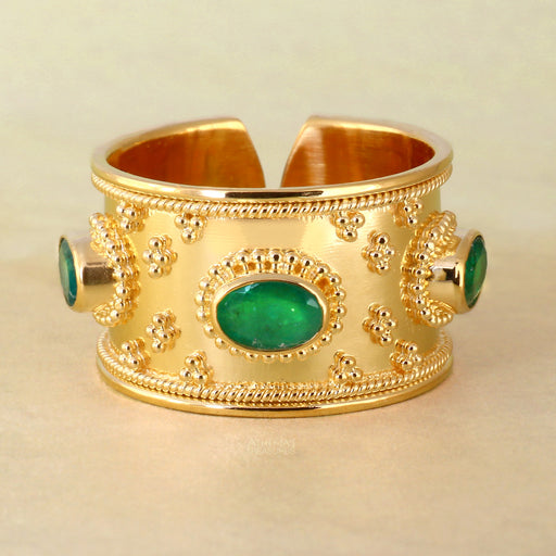 Byzantine Large Stone Band Ring