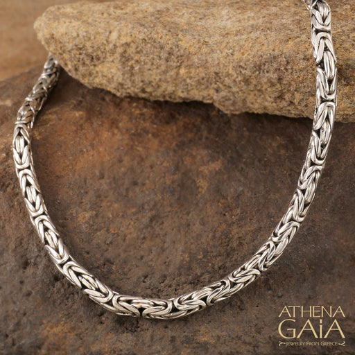 Sterling Silver High Byzantine Chain