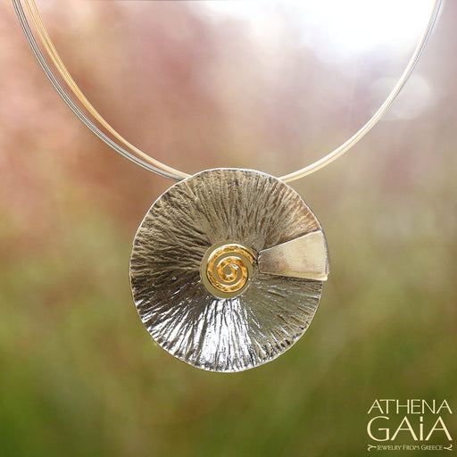 Spiral Gravity Pendant and Necklace