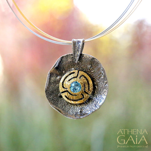 Key Spiral Pendant and Necklace