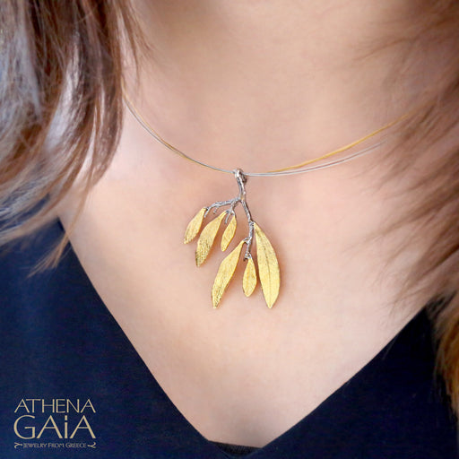 Olive Leaf Cluster Necklace