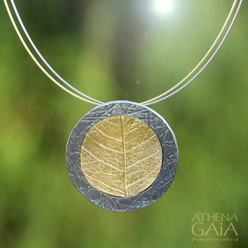 Circular Leaf Empathic Necklace