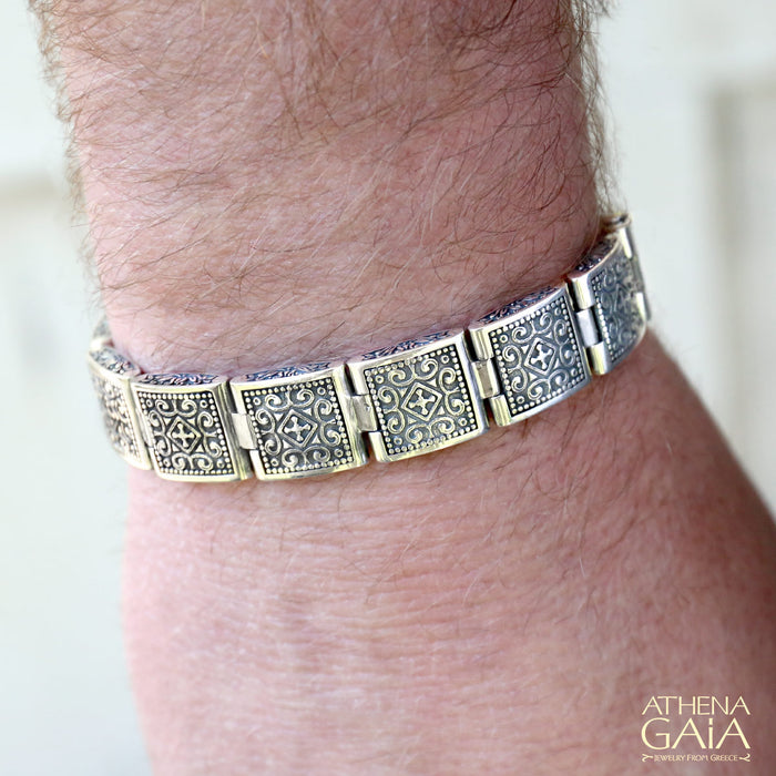Small Reversible Greek Key Bracelet