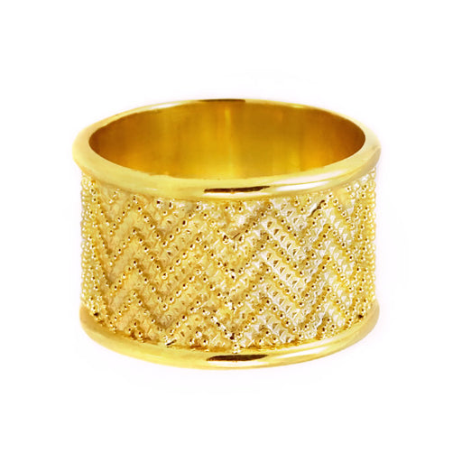 Digital Zig Zag Wide Ring
