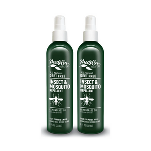 Medella Naturals All Natural, DEET Free Insect & Mosquito Repellent (8oz. - 2 PACK)