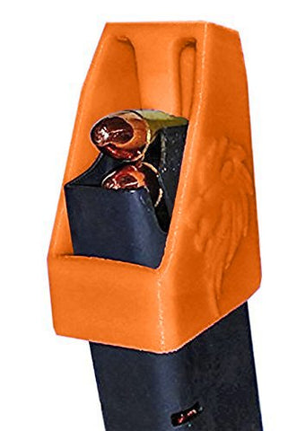DOUBLE STACK Magazine loader RAE-701 for many calibers of Pistol Magazines including 32 auto, 9mm Luger, 22TCM, .357 SIG, .380 ACP, 10mm Auto, .40 S&W, .45GAP .45 ACP MADE IN THE USA (Orange)