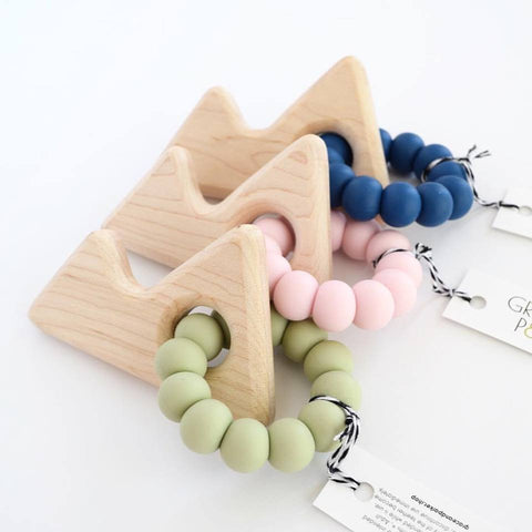 Grace & Parker Maple Teether (Mountain) - variety of colors
