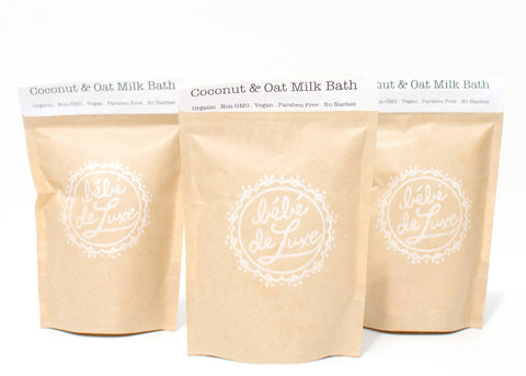 Bébé de Luxe Coconut & Oat Milk Bath (Petit) (100g / 3.53 oz each)