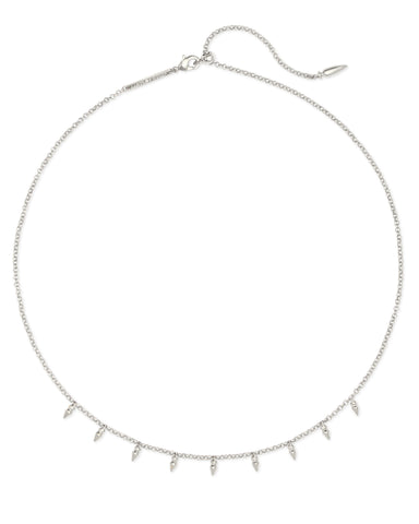 Addison Choker Necklace in Silver