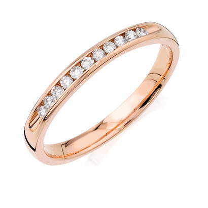Rose Gold Diamond Anniversary Band