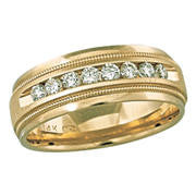Mens 14kt Yellow Gold Diamond Band