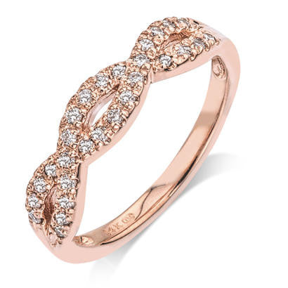 Infinity Diamond Rose Gold Band