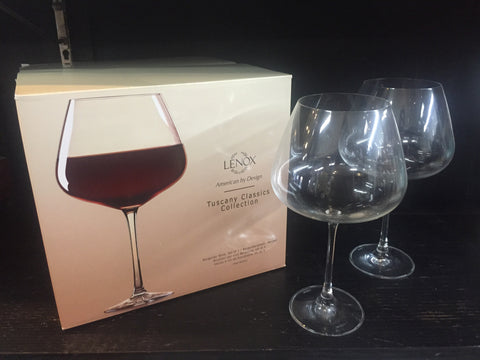 Burgandy Wine Glasses